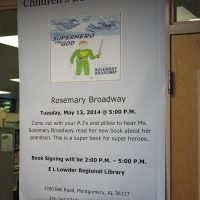 1 E.L. Lowder Library - book reading/signing