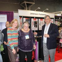 Rosemary with Carolyn Reidy, President and CEO of Simon & Schuster, and with an Archway Publishing representative.