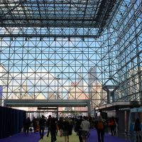 View from inside Javits Center looking toward the Empire State Building