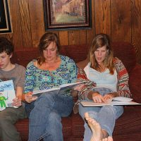Family's first look at the book