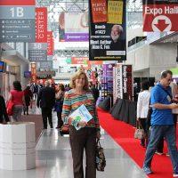 Rosemary inside Javits Center for Book Expo America 2014
