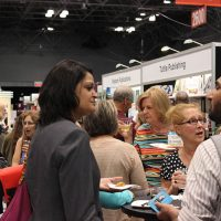 Rosemary mingling during Archway Publishing's reception at Book Expo America 2014